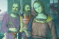 Dettaglio dei santi di destra in IRC