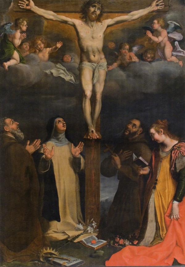 Crocefisso e Santi, olio su tela, Museo Diocesano Pesaro.
