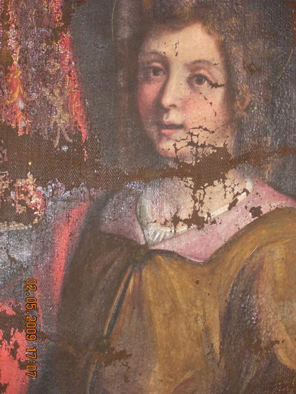 Dipinti ad olio su tela del pittore Giovan Giacomo Pandolfi : La madonna di Loreto e Santi, Museo Diocesano Pesaro