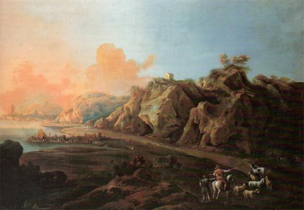 Alessio De Marchis, Paesaggio con Veduta di Porto, Cm94 X Cm 154, Pinacoteca Civica di Fano, Sec XXIII,